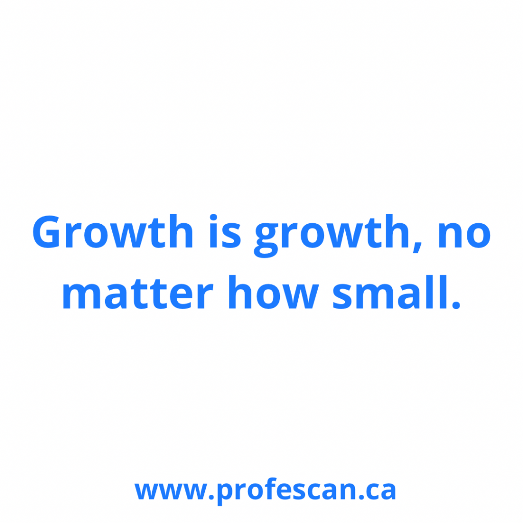 Growth is growth, no matter how small
